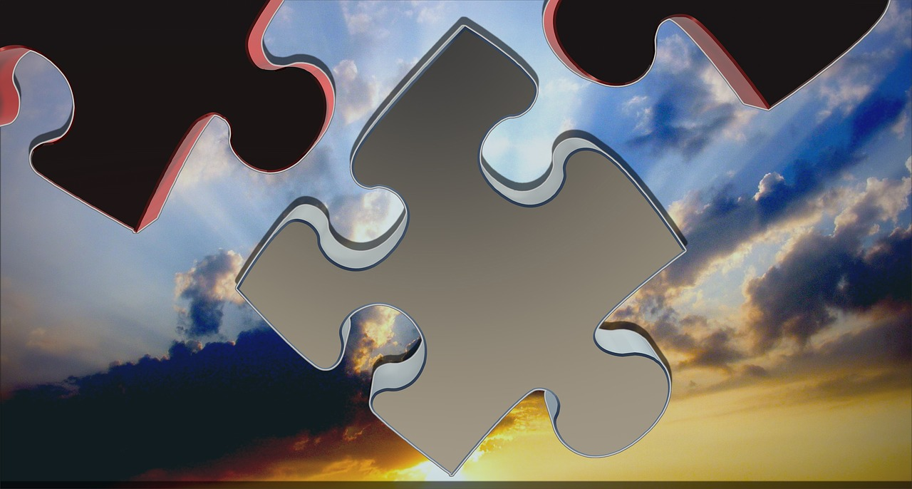 puzzle, share, 3d
